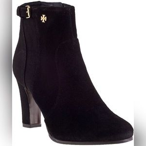 Tory Burch Black Milan Suede Ankle Booties
